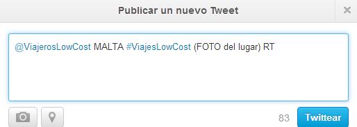 Twitter ejemplo